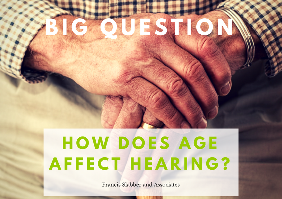 How does age affect hearing?